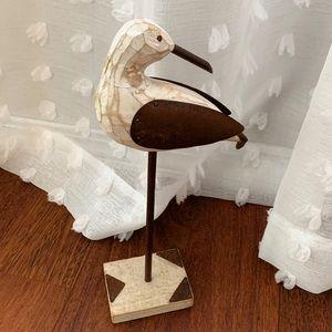 Shorebird wooden bird carving home decor